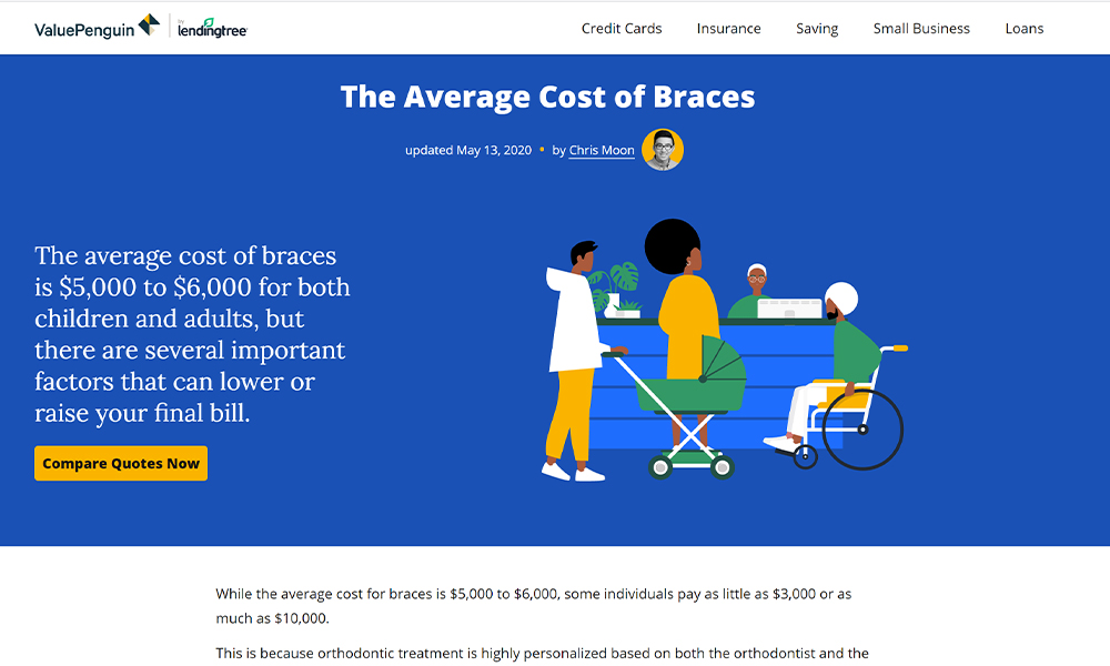 The Average Cost of Braces - ValuePenguin